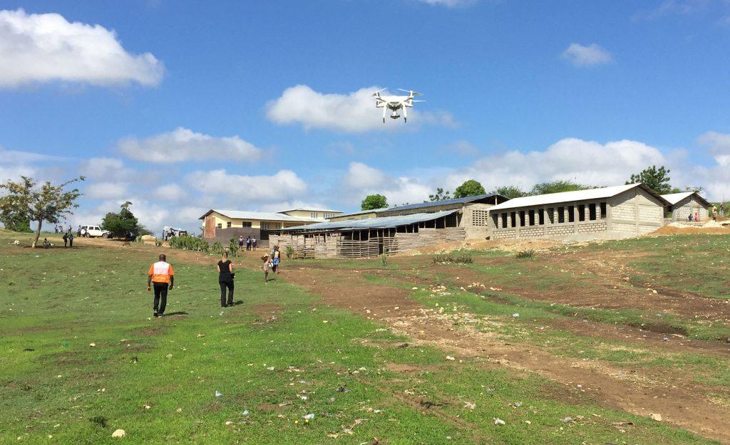 World Vision Haiti Video Production Trip - Capturing aerial footage of a local Haitian school
