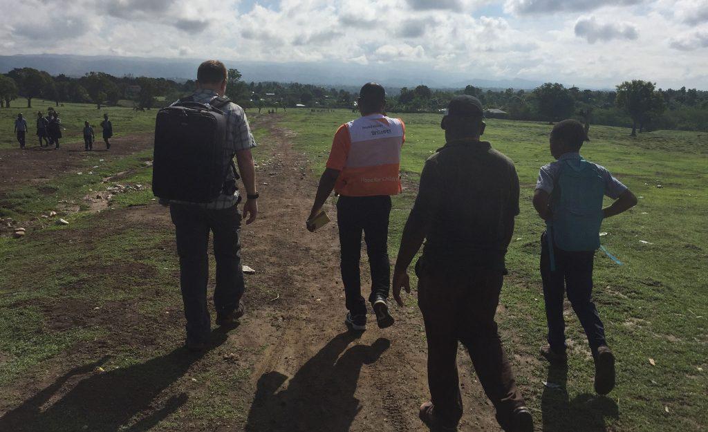 World Vision Haiti Video Production Trip - Walking a dirt path