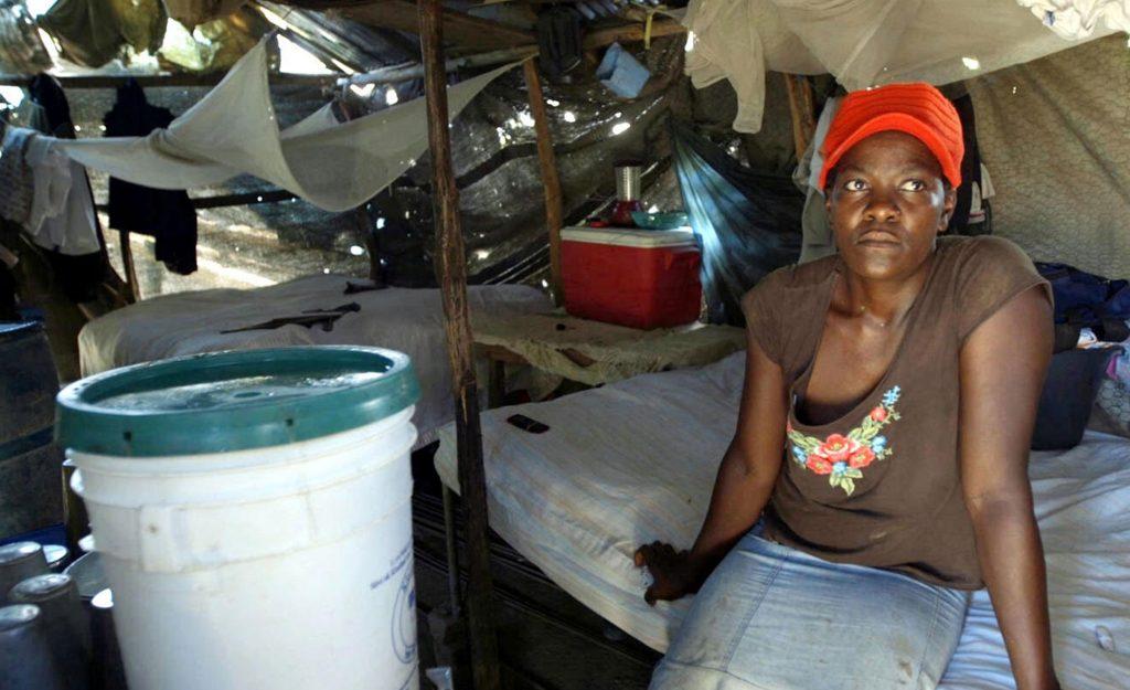 World Vision Haiti Video Production Trip - A rural Haitian home interior