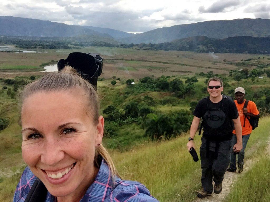 Hepburn Creative team hiking through rural Haiti on a video project for World Vision